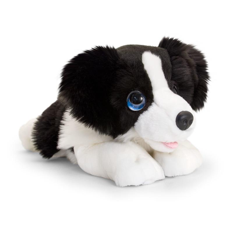Border collie honden knuffeldier 37 cm
