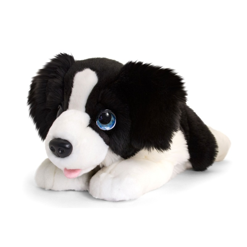 Border collie honden knuffeldier groot 47 cm