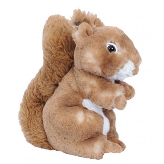 Bruin eekhoorn knuffeltje 20 cm