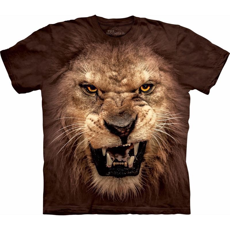 Bruin realistisch leeuwen T-shirt