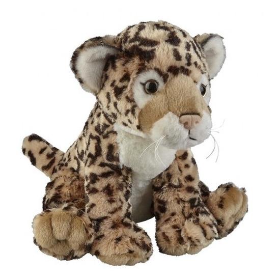 Bruine jaguar knuffel 30 cm knuffeldieren