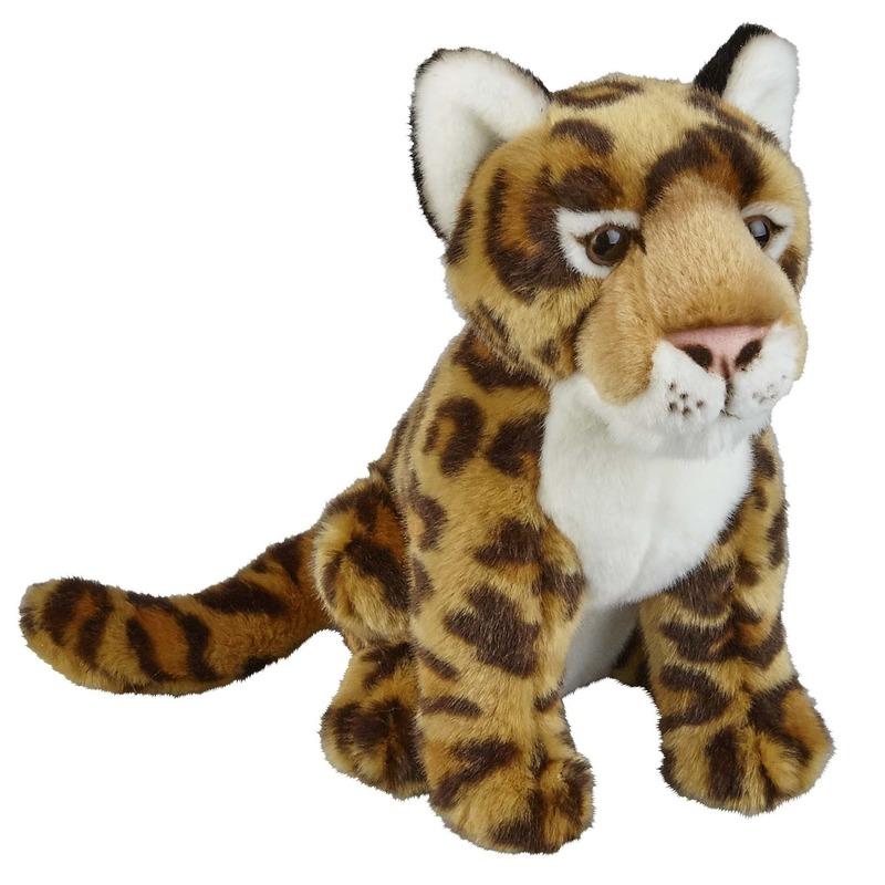 Bruine jaguars knuffels 28 cm knuffeldieren