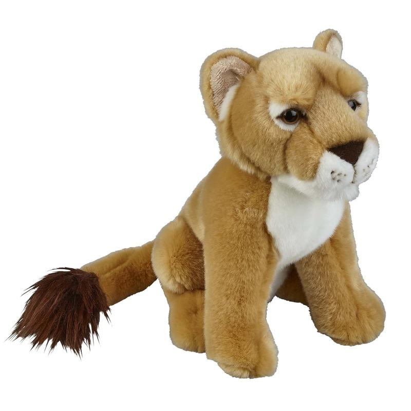 Bruine leeuwinnen knuffels 28 cm knuffeldieren
