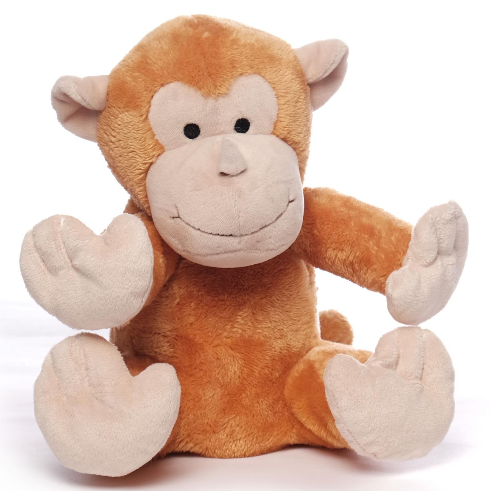 Bruine orang oetan heatpack/coldpack knuffels 26 cm knuffeldieren