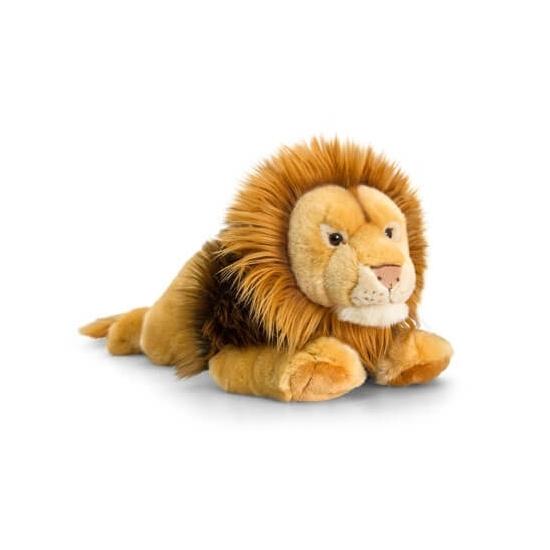 Bruine pluche liggende knuffel leeuw 46cm