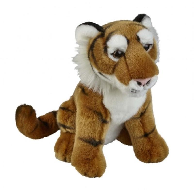 Bruine tijger knuffel 28 cm knuffeldieren