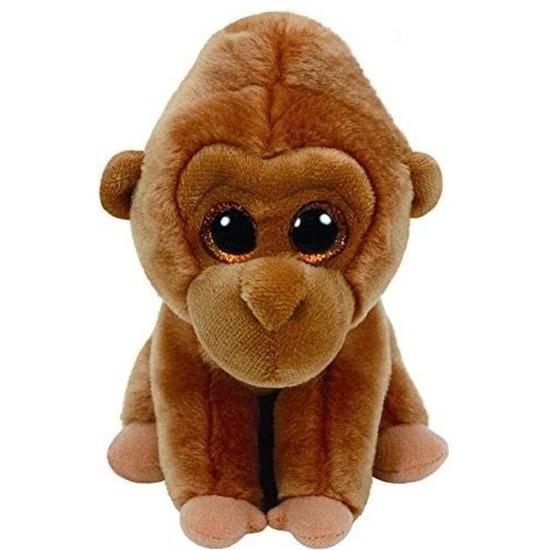 Bruine Ty Beanie gorilla knuffels Monroe 15 cm knuffeldieren