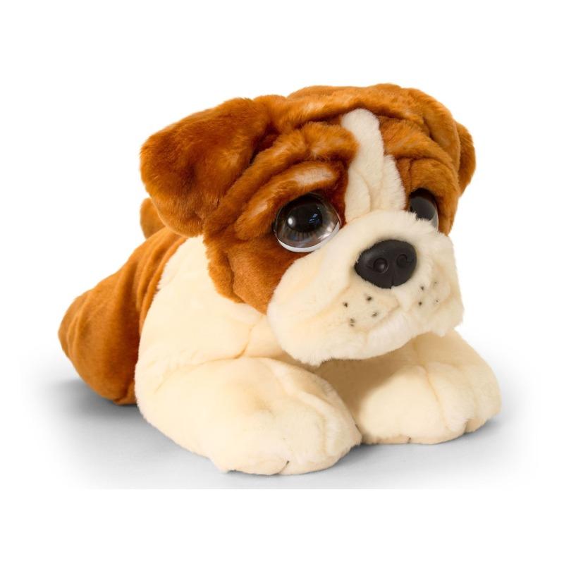 Bulldog honden knuffeldier 37 cm