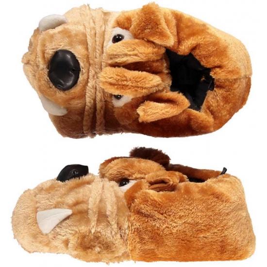 Bulldog honden pantoffels voor kinderen