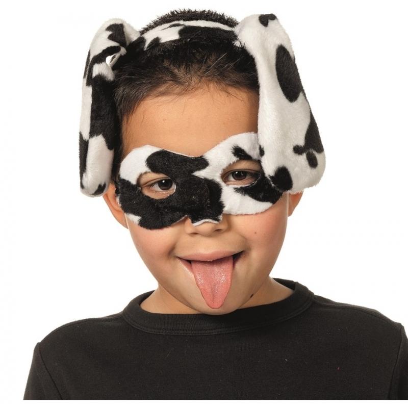 Dalmatier oogmasker met diadeem voor kids