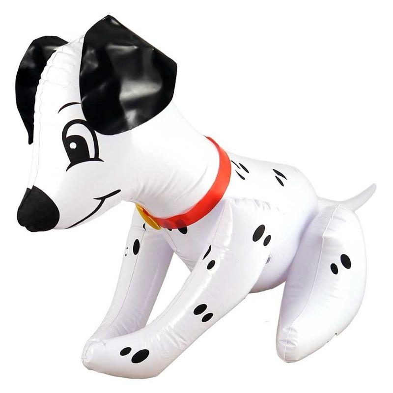 Decoratie opblaas hondje 50 cm
