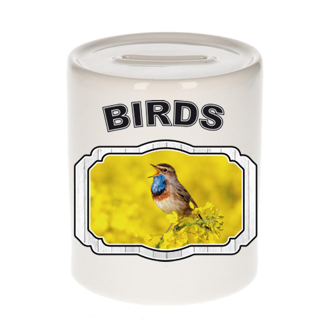 Dieren liefhebber blauwborst vogel spaarpot - vogels cadeau