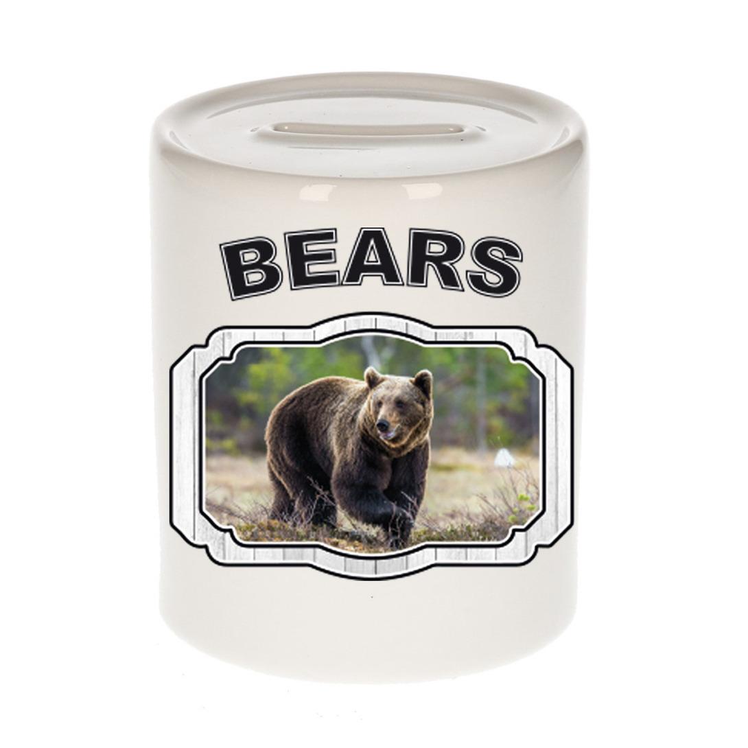 Dieren liefhebber bruine beer spaarpot - beren cadeau