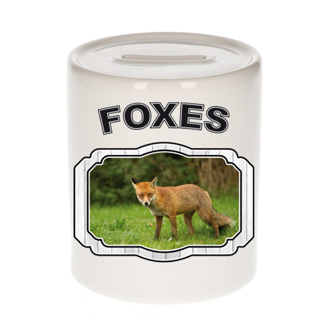 Dieren liefhebber bruine vos spaarpot - vossen cadeau