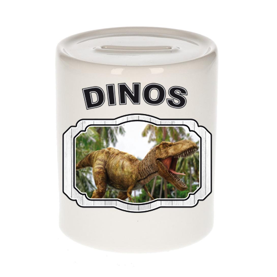 Dieren liefhebber brullende t-rex dinosaurus spaarpot - dinosaurussen cadeau