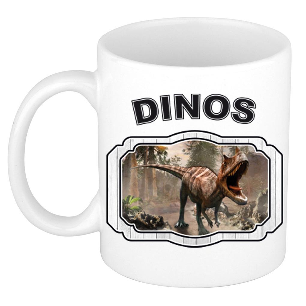 Dieren liefhebber carnotaurus dinosaurus mok 300 ml - dinosaurussen beker