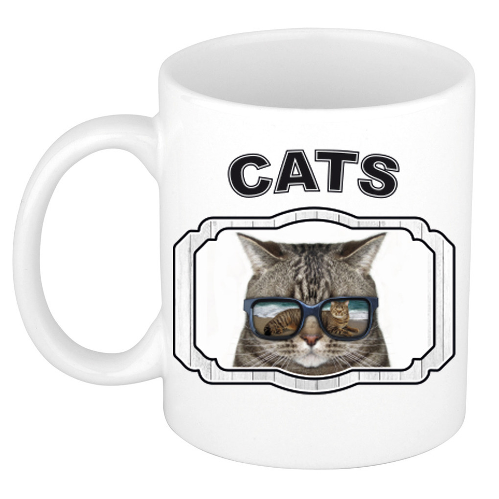 Dieren liefhebber coole poes mok 300 ml - katten beker