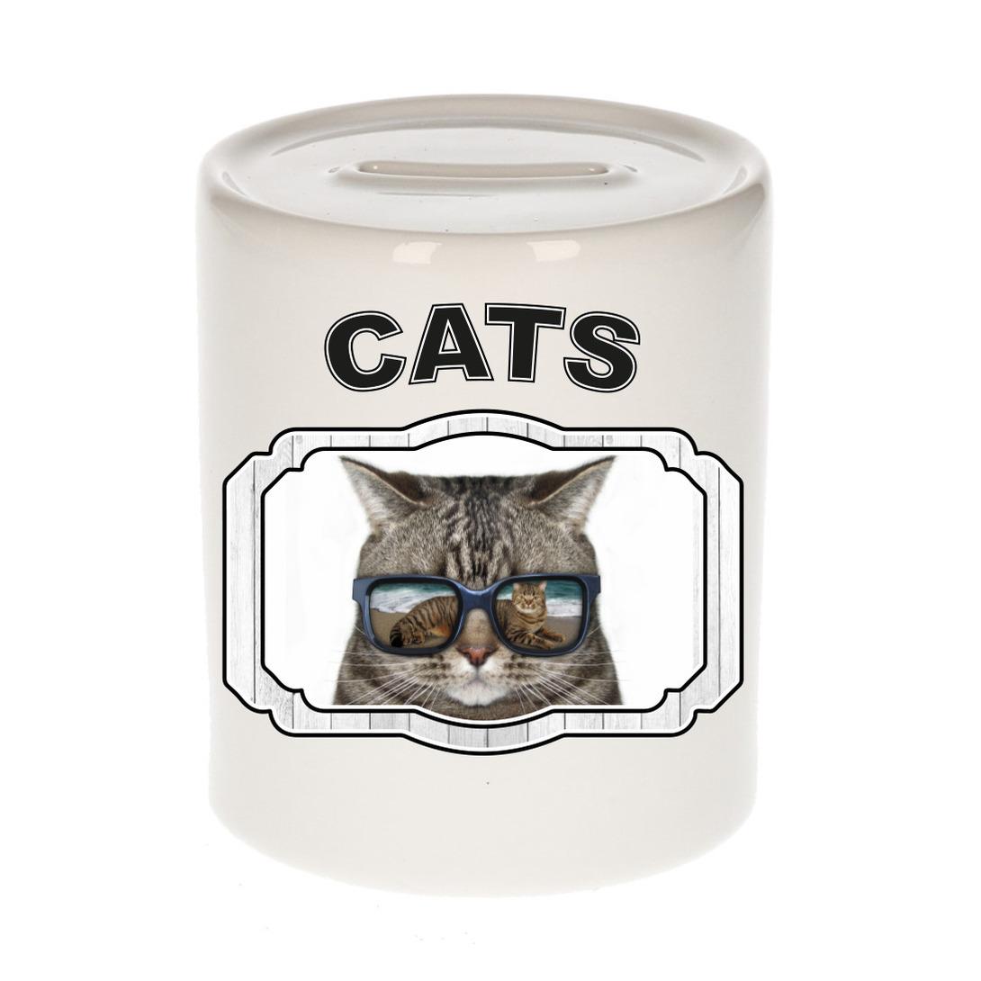 Dieren liefhebber coole poes spaarpot - katten cadeau