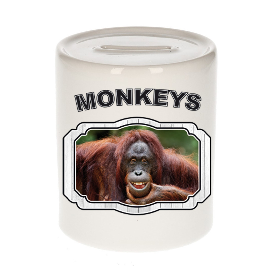 Dieren liefhebber gekke orangoetan spaarpot - apen cadeau