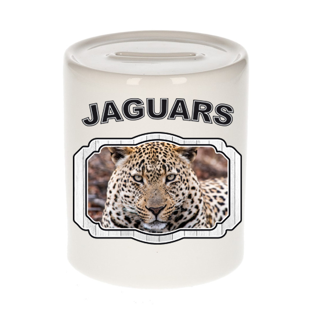 Dieren liefhebber gevlekte jaguar spaarpot - jaguars cadeau