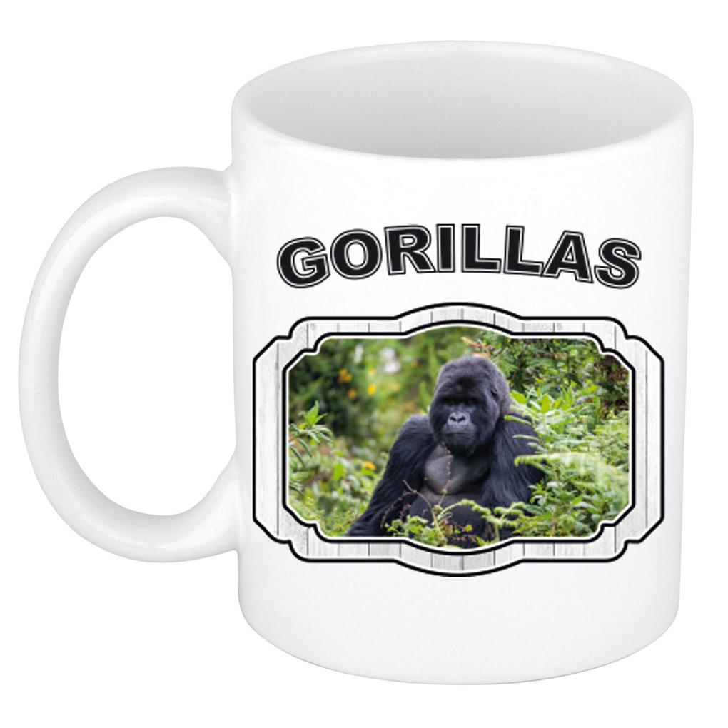 Dieren liefhebber gorilla mok 300 ml - gorilla apen beker