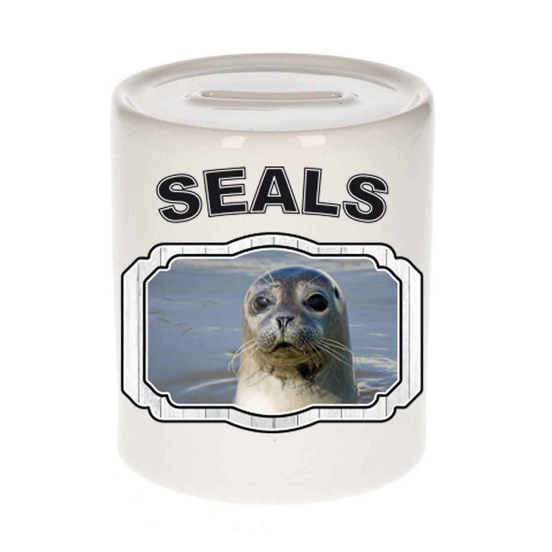 Afbeelding Dieren liefhebber grijze zeehond spaarpot - zeehonden cadeau door Animals Giftshop