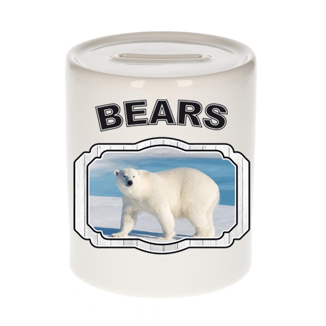 Dieren liefhebber grote ijsbeer spaarpot - ijsberen cadeau