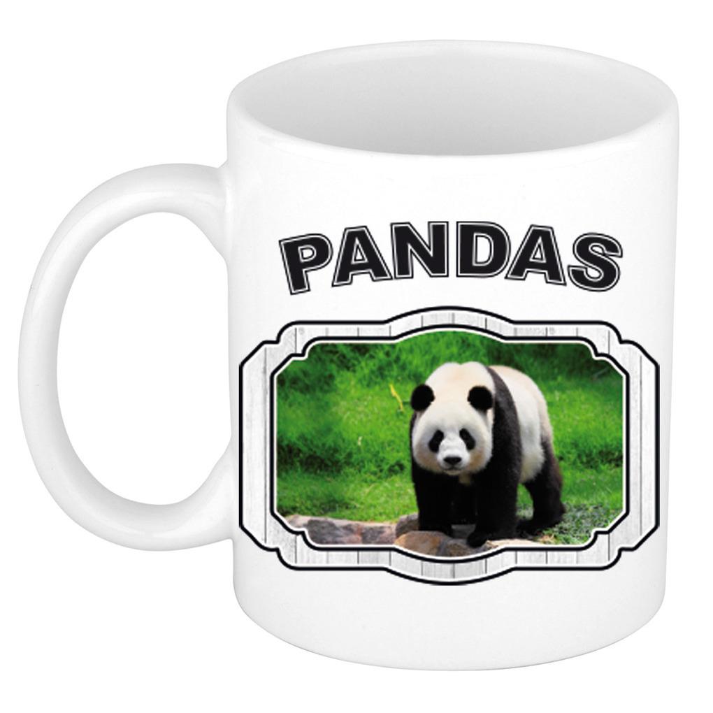 Dieren liefhebber grote panda mok 300 ml - pandaberen beker