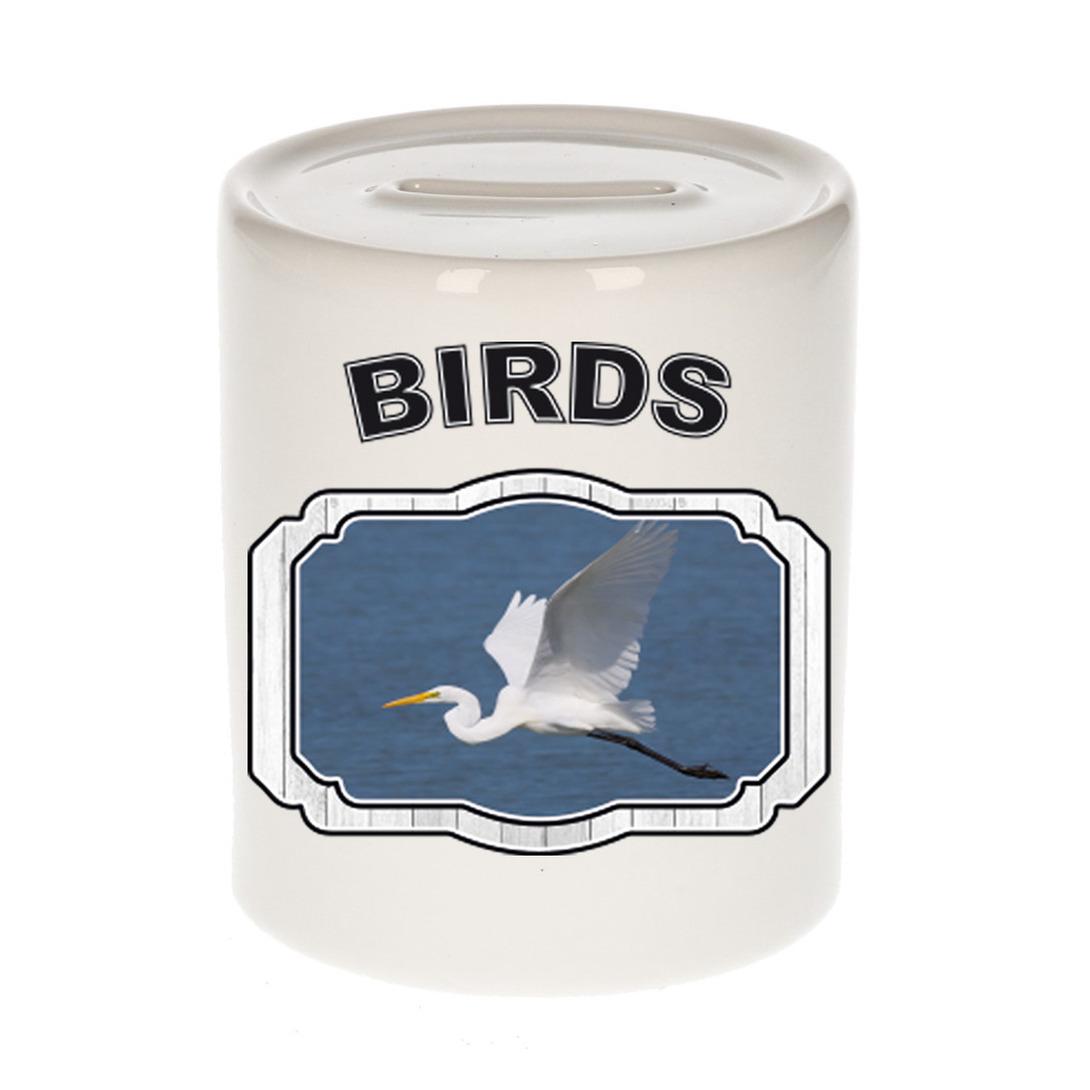 Dieren liefhebber grote zilverreiger spaarpot - vogels cadeau