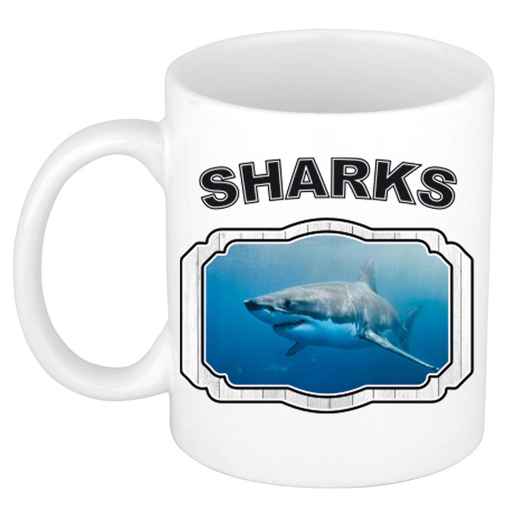 Dieren liefhebber haai mok 300 ml - haaien beker