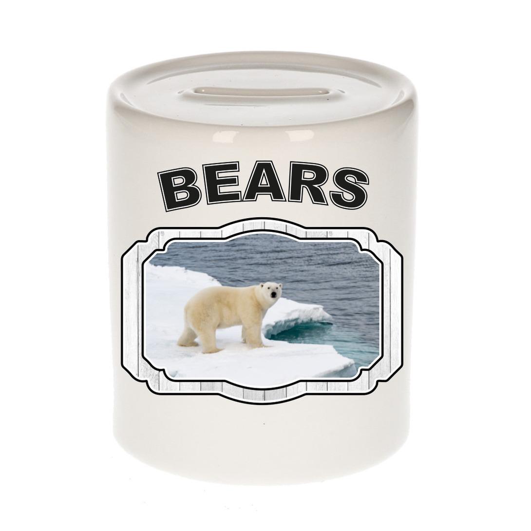 Dieren liefhebber ijsbeer spaarpot - ijsberen cadeau