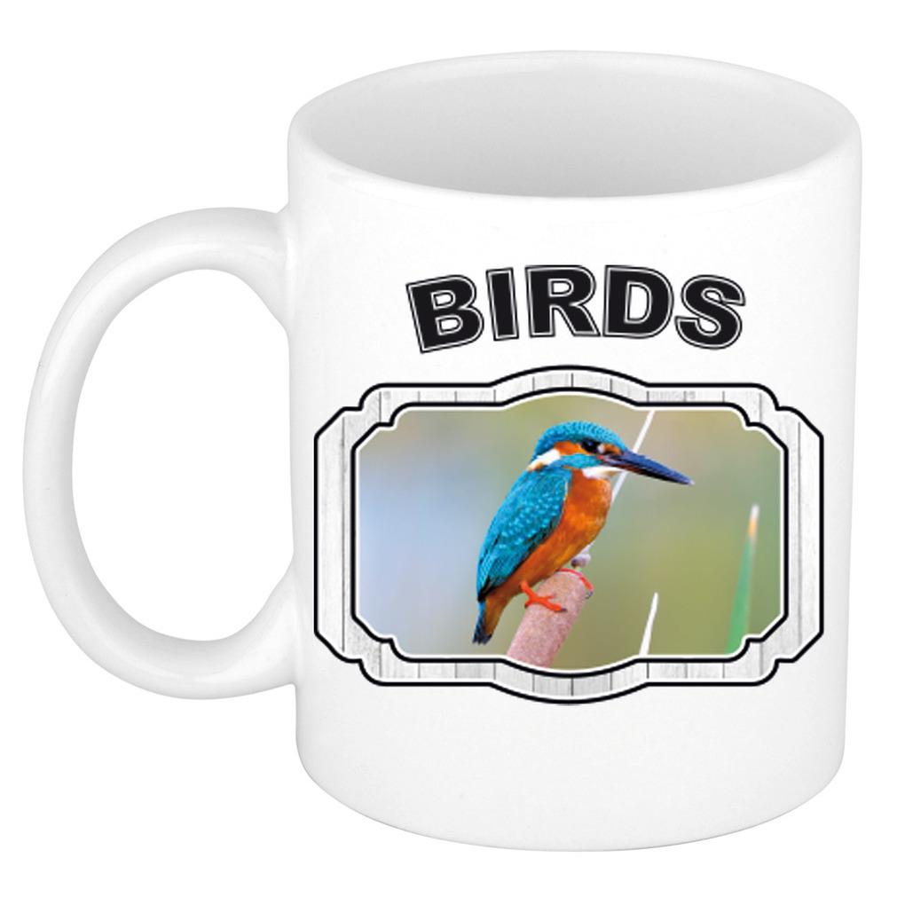 Dieren liefhebber ijsvogel mok 300 ml - vogels beker