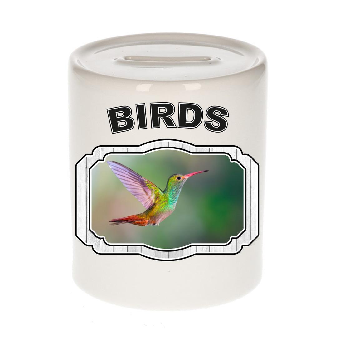 Dieren liefhebber kolibrie vogel spaarpot - vogels cadeau
