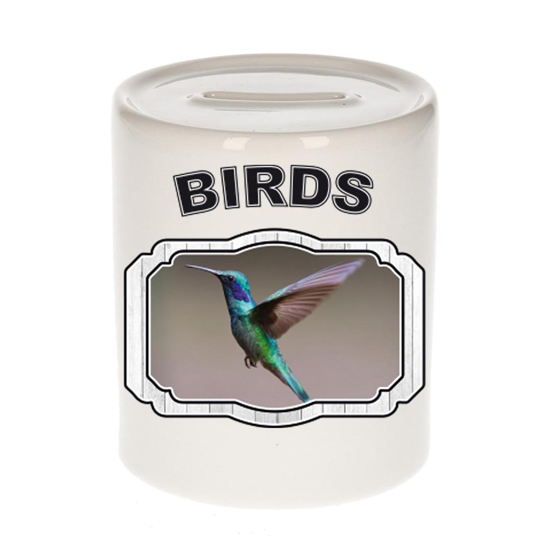 Dieren liefhebber kolibrie vogel vliegend spaarpot - vogels cadeau