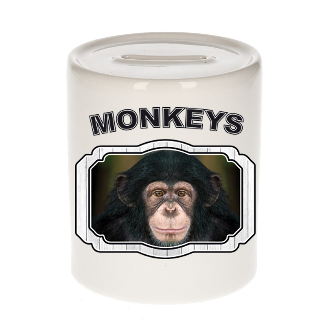 Dieren liefhebber leuke chimpansee spaarpot - apen cadeau