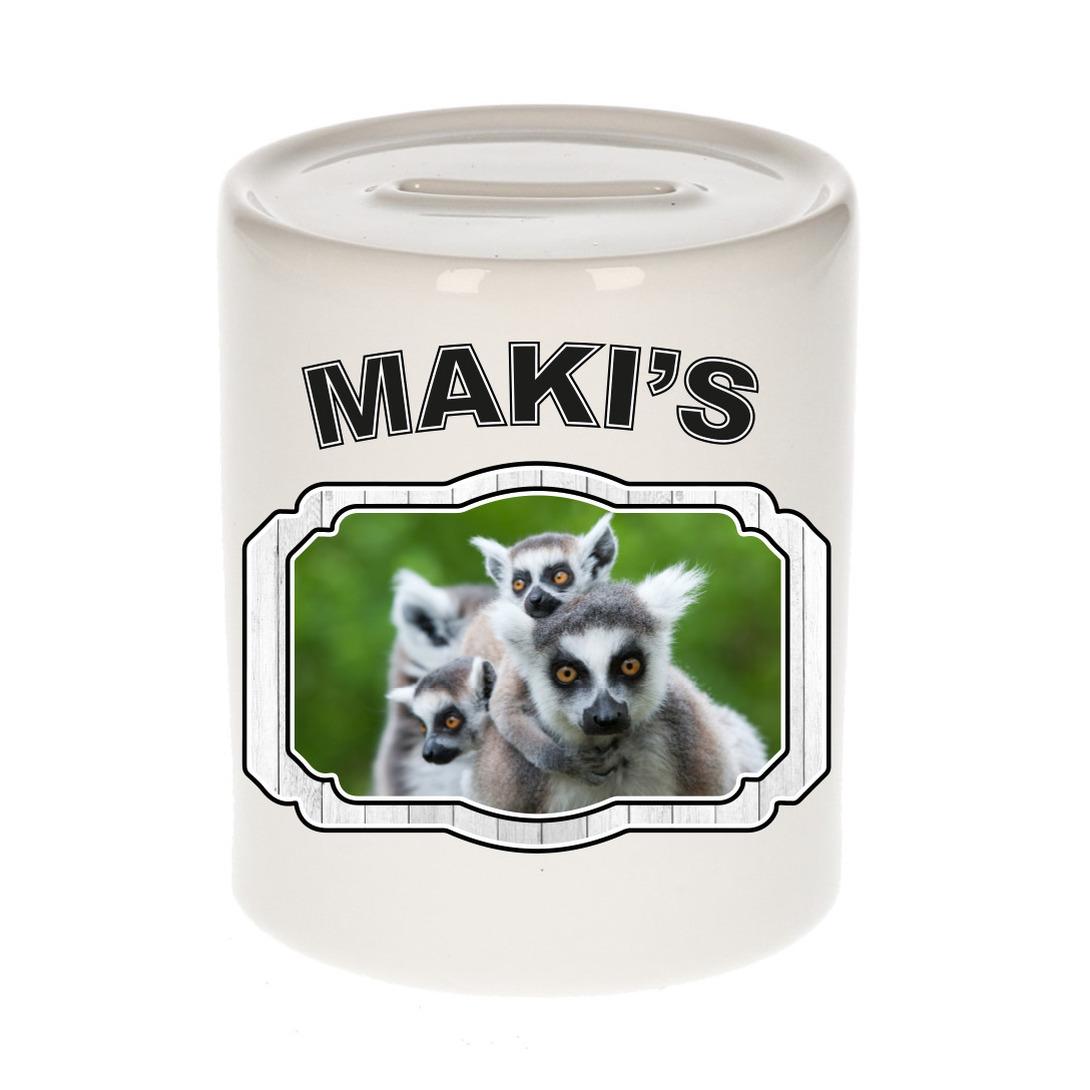 Dieren liefhebber maki spaarpot - maki apen cadeau