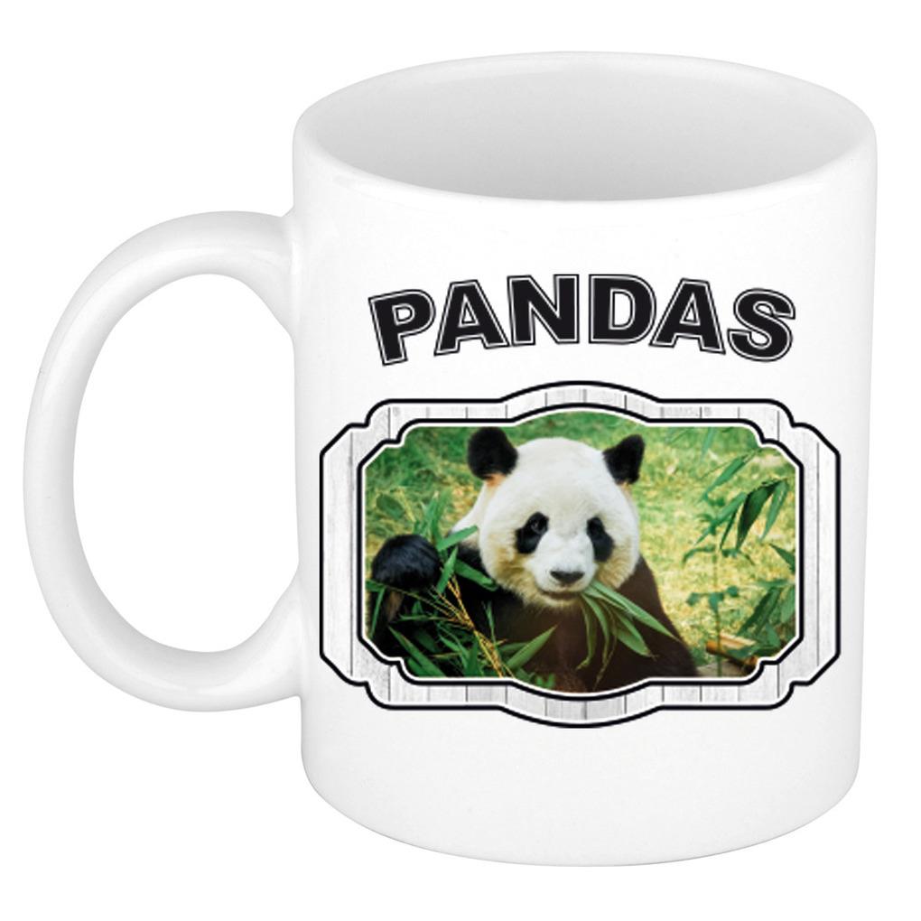 Dieren liefhebber panda mok 300 ml - pandaberen beker