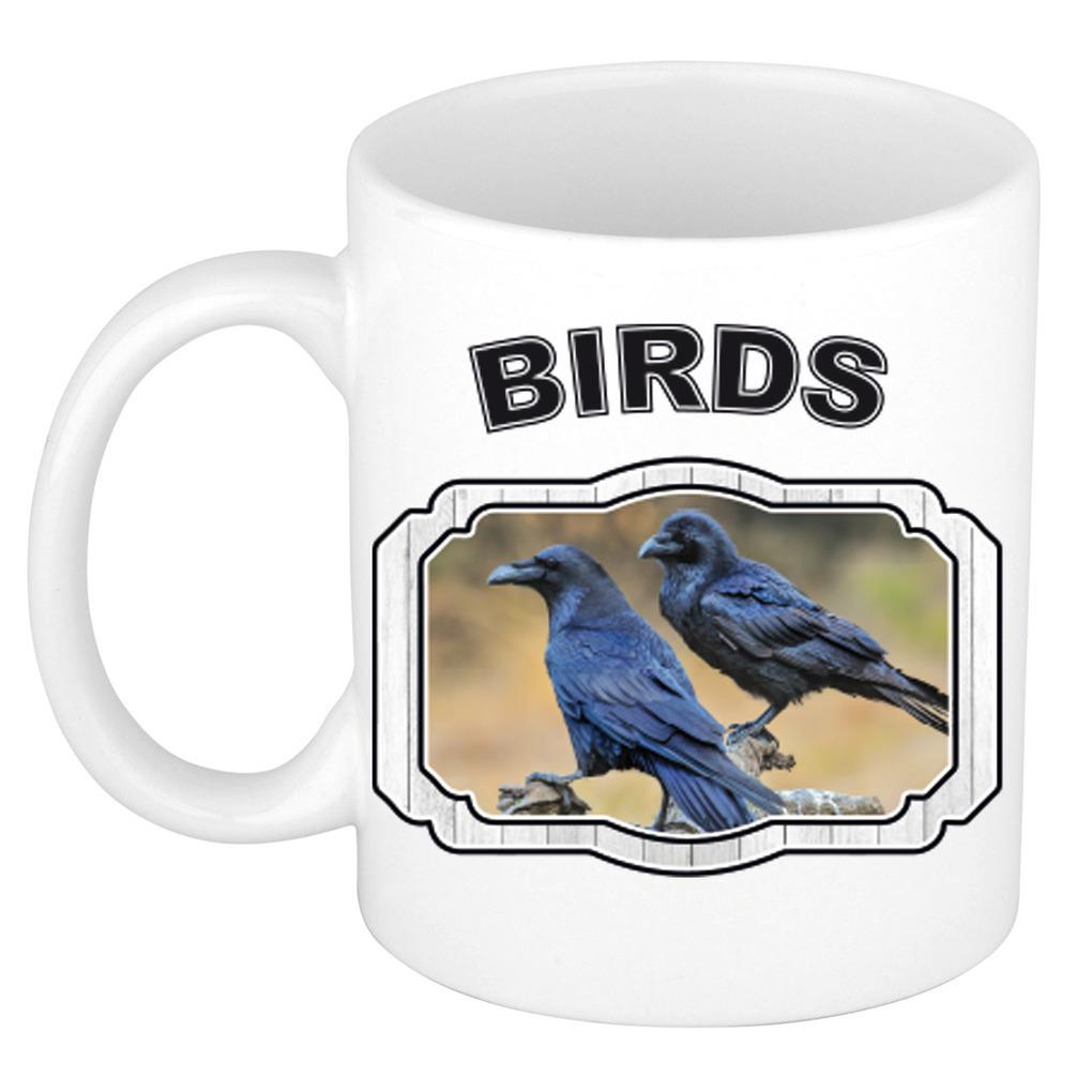Dieren liefhebber raaf mok 300 ml - vogels beker