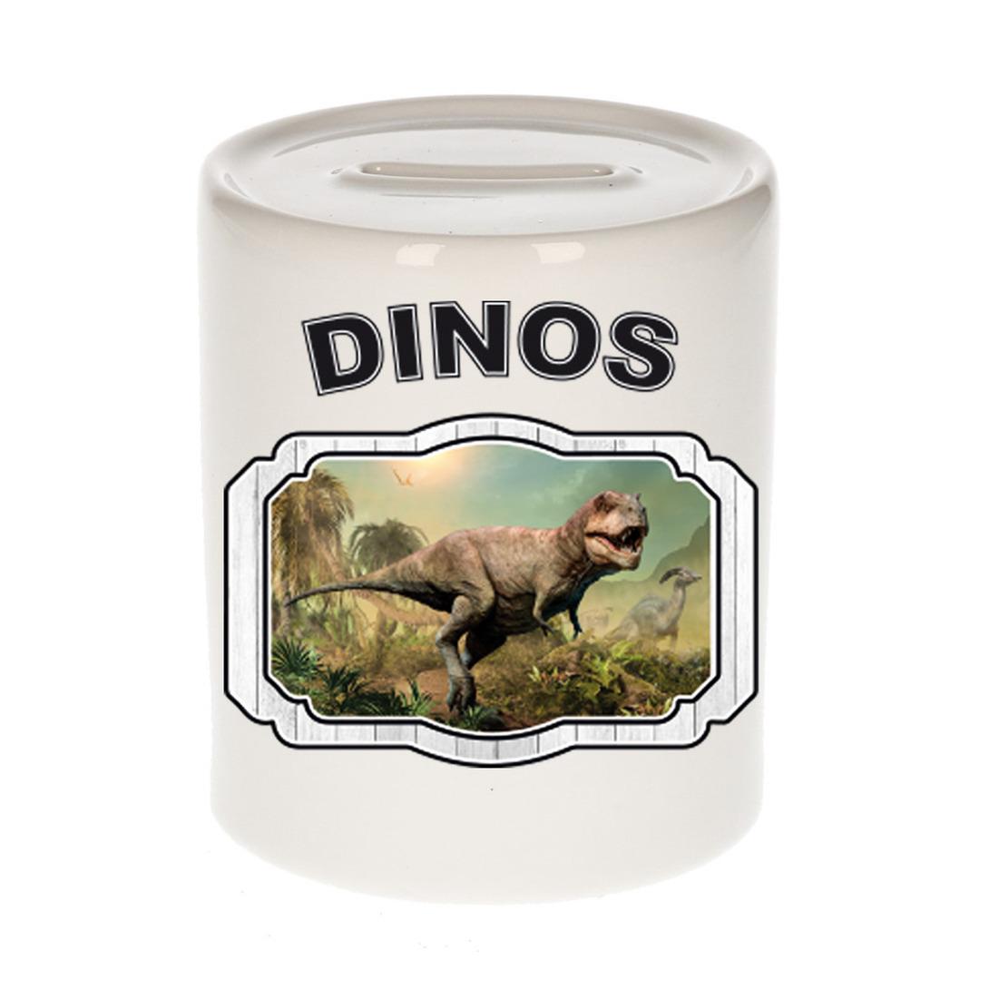 Dieren liefhebber stoere t-rex dinosaurus spaarpot - dinosaurussen cadeau