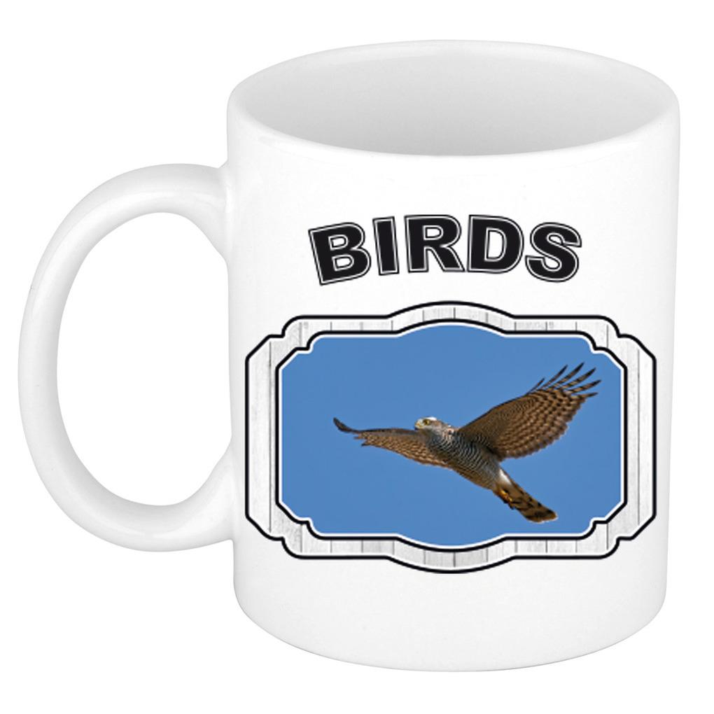 Dieren liefhebber vliegende havik roofvogel mok 300 ml - vogels beker