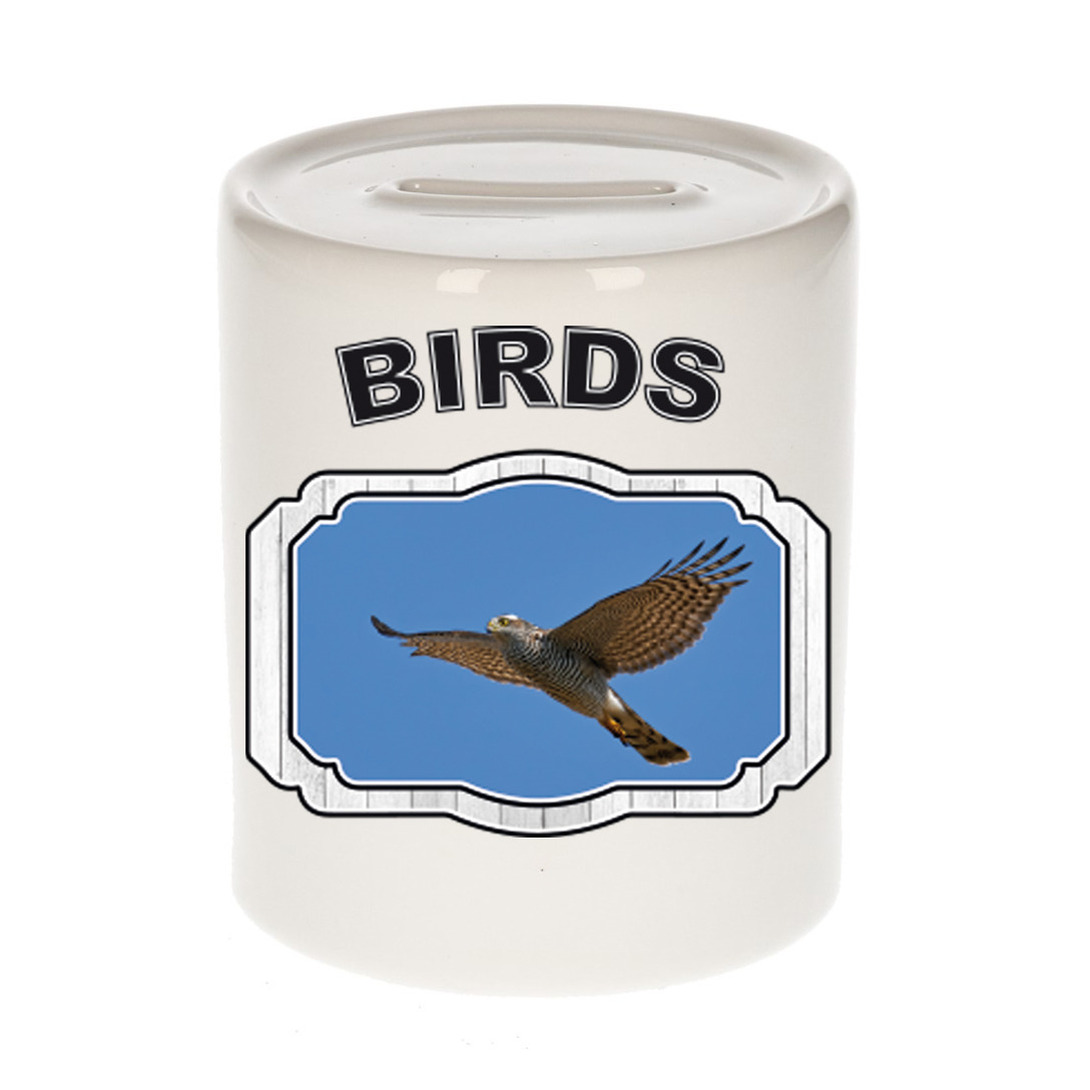 Dieren liefhebber vliegende havik roofvogel spaarpot - vogels cadeau