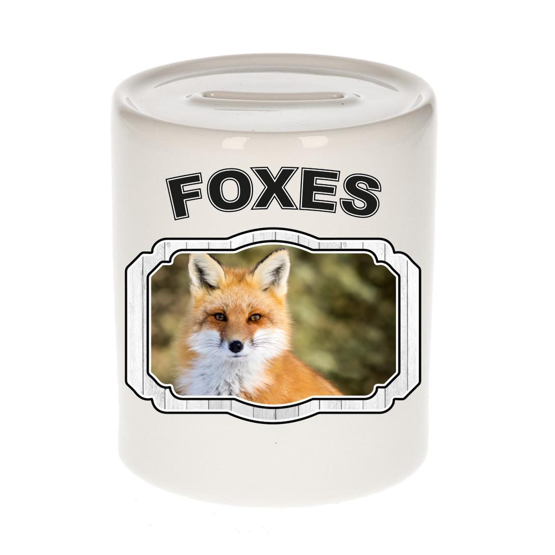Dieren liefhebber vos spaarpot - vossen cadeau