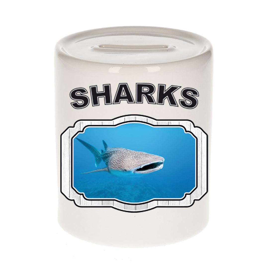 Dieren liefhebber walvishaai spaarpot - haaien cadeau
