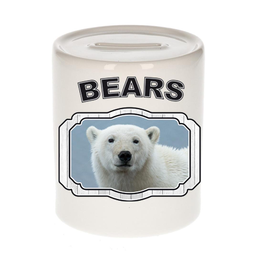 Dieren liefhebber witte ijsbeer spaarpot - ijsberen cadeau
