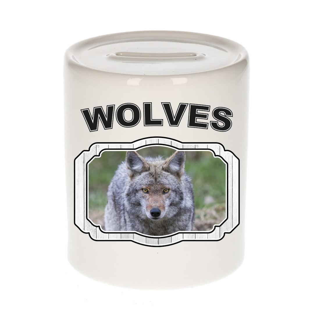 Dieren liefhebber wolf spaarpot - wolven cadeau