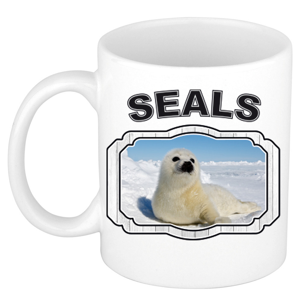 Dieren liefhebber zeehond mok 300 ml - zeehonden beker