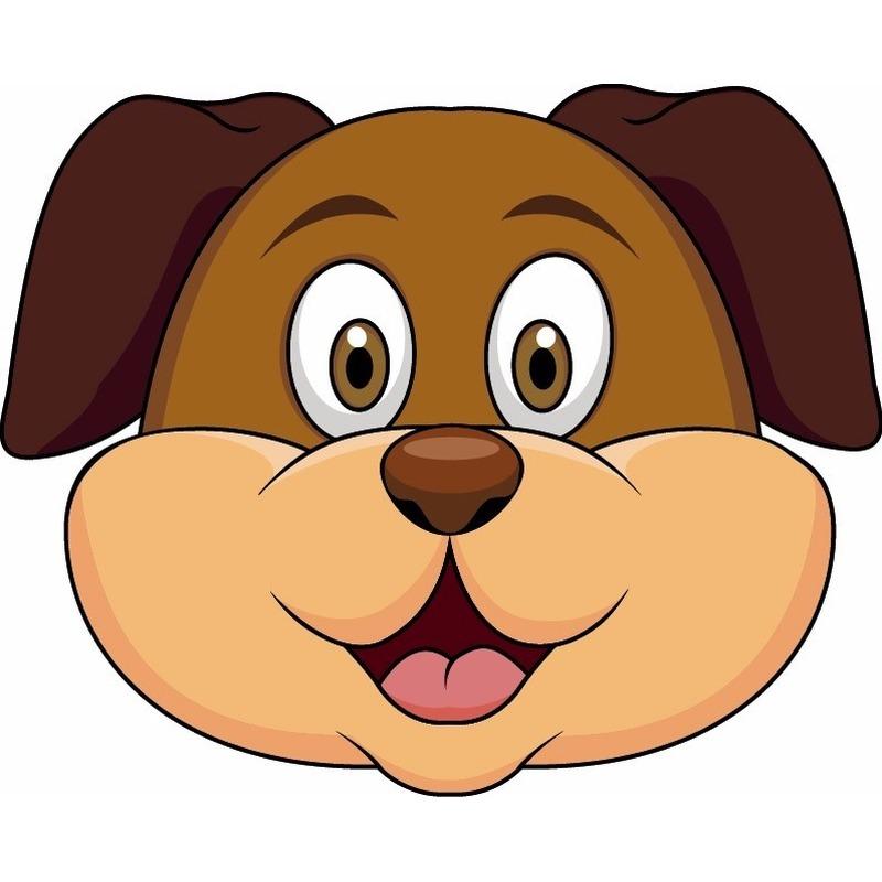 Dieren masker hond voor kids