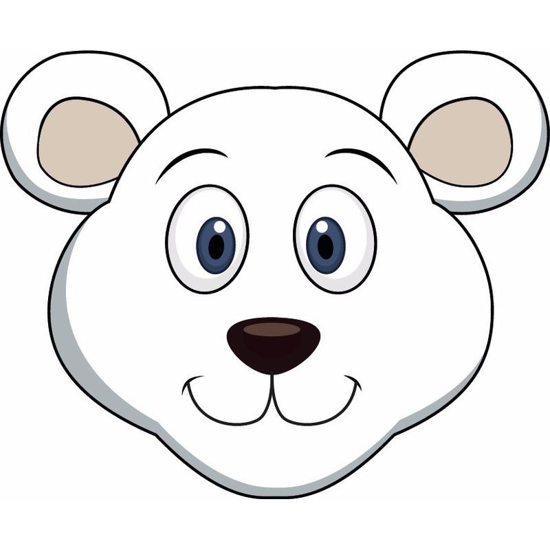 Dieren masker ijsbeer voor kids