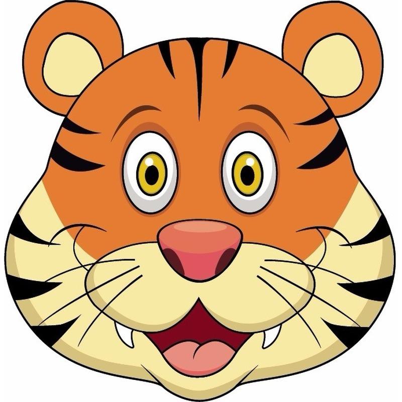 Dieren masker tijger voor kids