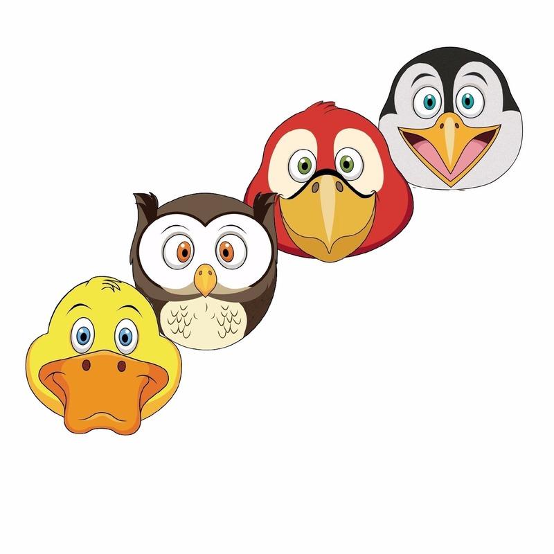Dieren maskers vogels voor kids